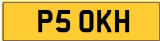 KH 5 OKH 50 FIFTY INITIALS Private CHERISHED Registration Number Plate